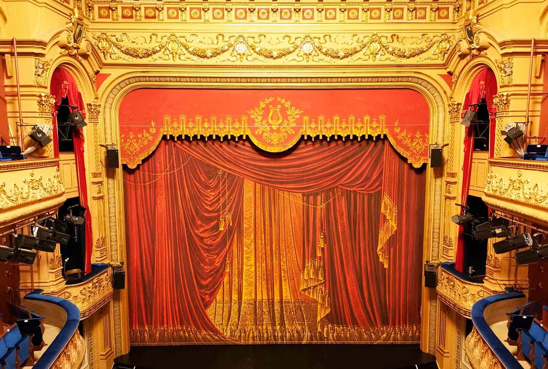 Bild av Gävle Teaters ridå
