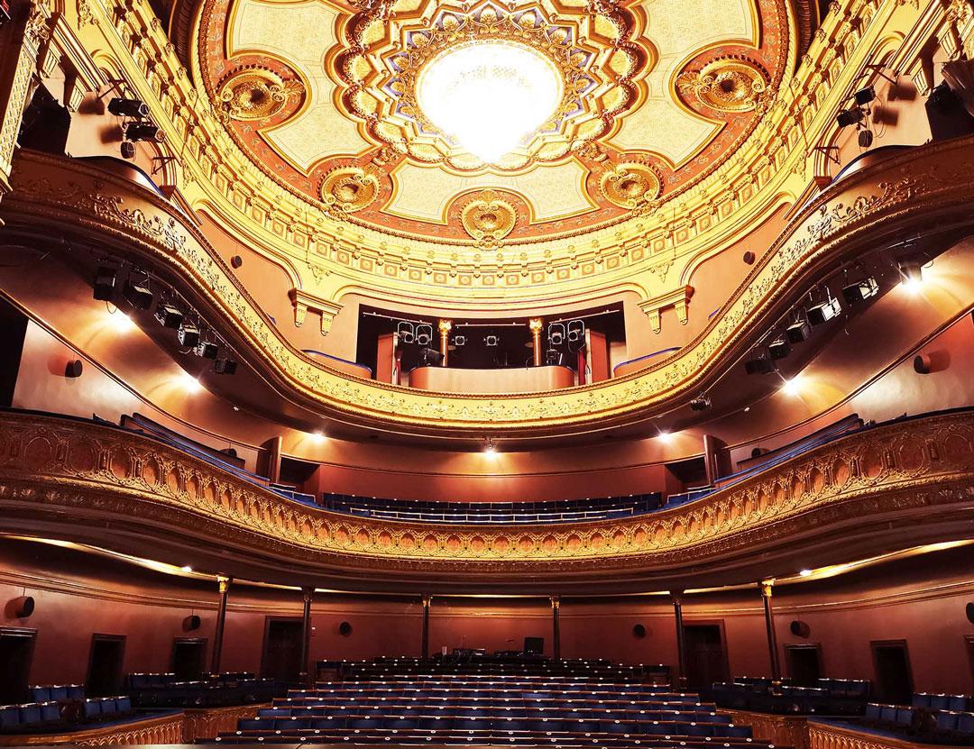 Bild av interiör i Gävle Teaters salong
